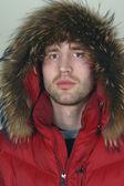 Retrato de invierno hombre closeup — Foto de Stock