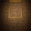 Old brick wall with frame — Stock Photo