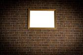 старая кирпичная стена с рамки по горизонтали — Стоковое фото