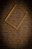 Old brick wall with framework vertical — Stock Photo