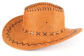 Sombrero marrón en una blanca — Foto de Stock