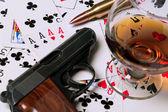 Karty karnej grać — Zdjęcie stockowe