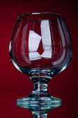 Una copa vacía vid roja — Foto de Stock