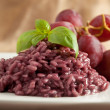 Risotto with Red wine — Stock Photo