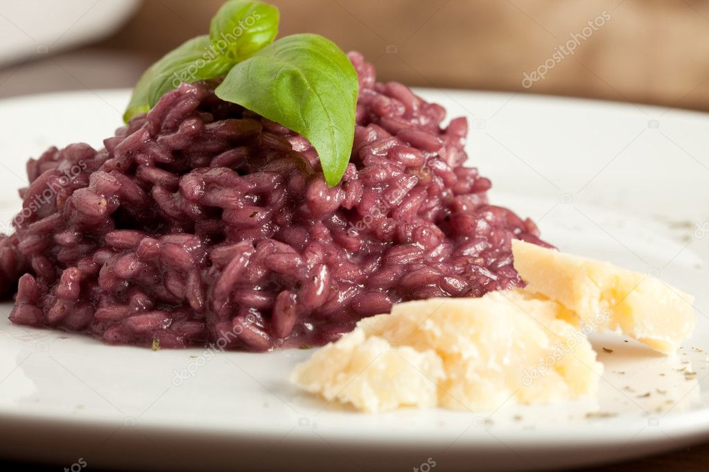 Photo of risotto with red wine  Stock Photo #3140686
