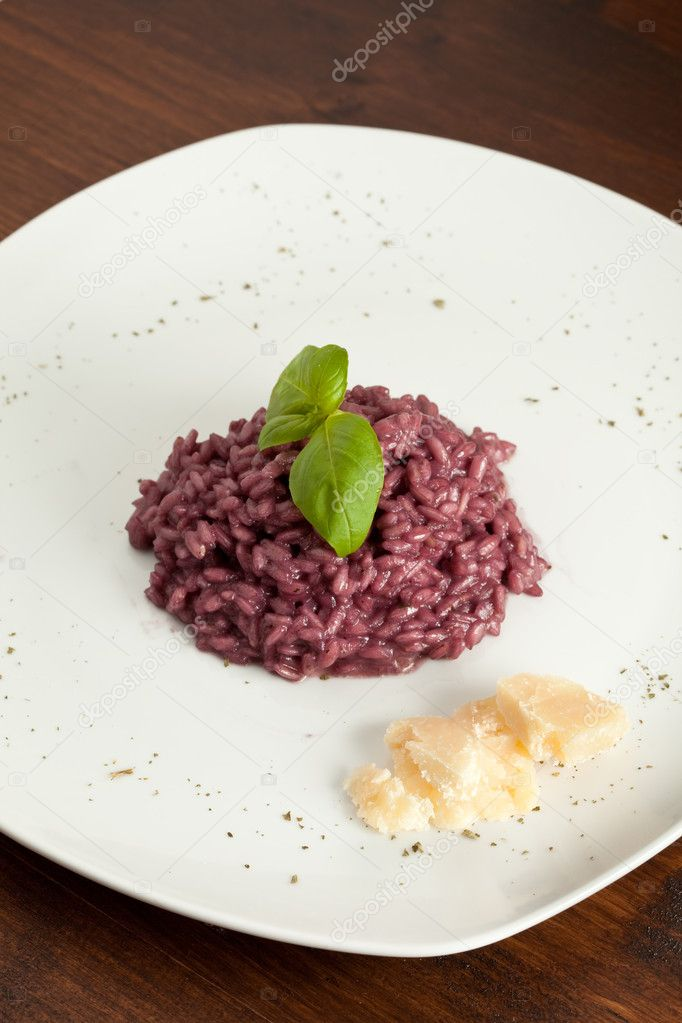 Photo of risotto with red wine  Stock Photo #3140733