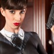 Stock Photo: Retro Female Criminal Concept