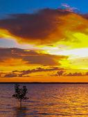 Dramatic Ocean Sunset — Stock Photo