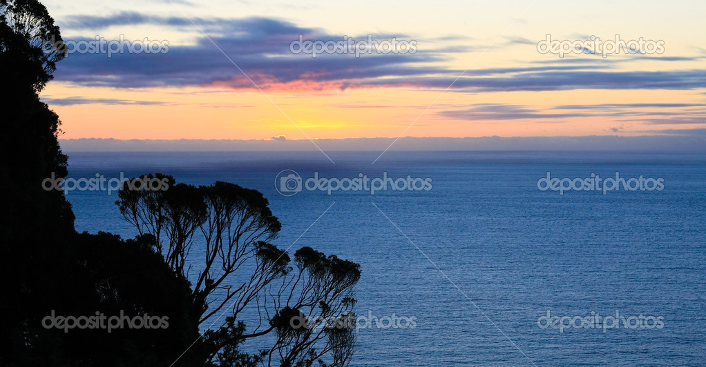 Sunset over the ocean in New Zealand, South Island. — Stock Photo #2700672