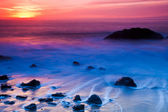 Rocky Coast Sunset — Stockfoto