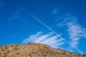 Airplane over Joshua Tree National Park — Stock Photo