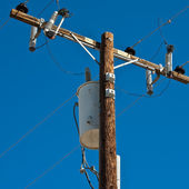 High Voltage Pole — Stock Photo