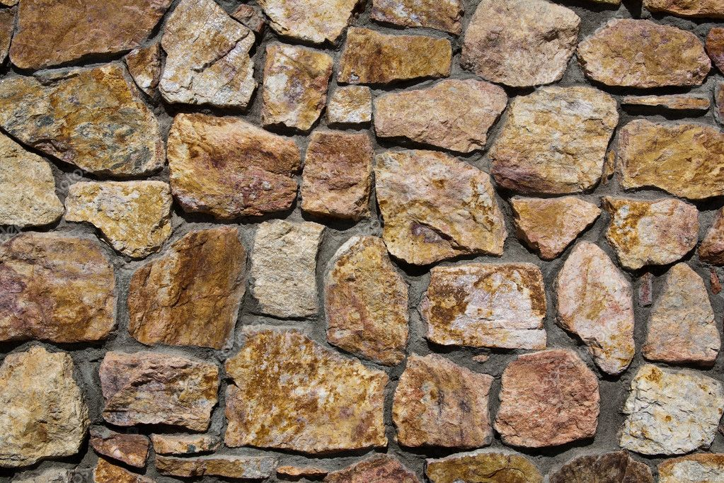 Stone wall at the Genereal Patton Museum, California. — Stock Photo #2766054