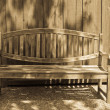 Stock Photo: Garden Bench in Antique Light