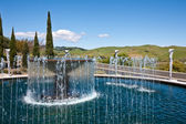 Water Fountain at a Napa Valley Winery — Stok fotoğraf