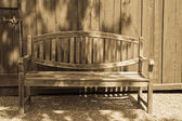 Garden Bench in Antique Light — Stock Photo