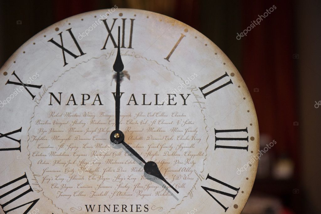 Napa Valley wineries clock. — Stock Photo #2774826