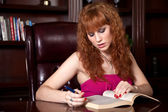 Attractive Woman Studying — Stock Photo
