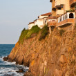 Cliff Houses at Sunset - Stock Photo