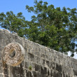 Mayan Game Field Detail at Chichen Itza - Stock Photo