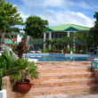 Tropical Resort at Ambergris Caye - Stock Photo