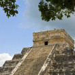 Chichen Itza Pyramid Detail - Stock Photo