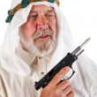 Arab Man Holding a Gun — Stock Photo