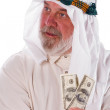 Arab Man Holding Money — Stock Photo