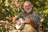 Happy Banjo Player — Stock Photo