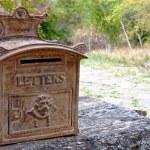 Ornate Rusty Outdoor Mailbox — Stock Photo