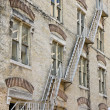 Fire Escape on an Old Building — Stock Photo