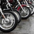 Stock Photo: Row of motorcycles