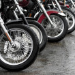 Row of motorcycles — Stock Photo