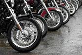 Fila de motocicletas — Foto de Stock
