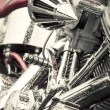 Motorcycle chrome — Stock Photo