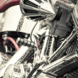 Stock Photo: Motorcycle chrome