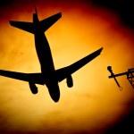 Aircraft sunburst — Stock Photo