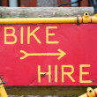 Bike hire — Stock Photo