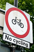 No cycling — Stock Photo