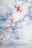 Engels vlag bunting — Stockfoto