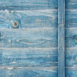 Stock Photo: Blue stained wood