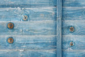 Blue stained wood — Stock Photo
