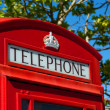 Red telephone box - Stock Photo