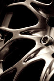 Chromed wheel hub — Stock Photo