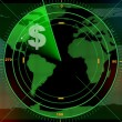 Stock Photo: Money radar