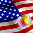 Usa flag — Stockfoto