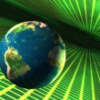 Stock Photo: Earth in cyberspace
