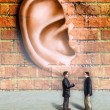 Walls have ears — Stockfoto