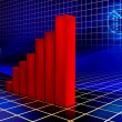 Stock Photo: Rising graph
