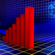 rising graph — Stock Photo